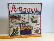 Arizona Grand Canyon State Cross Stitch Printed Desert Navaho Apache Cactus Wren