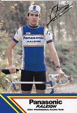 CYCLISME carte  cycliste JOS LAMMERTINK équipe PANASONIC raleigh 1984