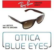 Occhiali Sole RAYBAN ANDY RB 4202 607313 MATTE BROWN Ray Ban Sunglasses new
