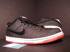 Nike Dunk Low Premium SB LARRY PERKINS CHIRPING BIRDS BLACK RED WHITE DENIM 11.5