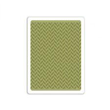 Tim Holtz Texture Fades ~ HERRINGBONE ~ Embossing Folder ~ 661200