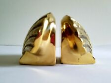 Solid Brass Scallop Shell Book Ends