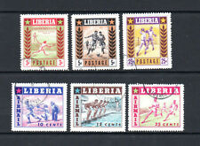 Liberia 1955 Sport. Complete set of 6. CTO. One postage for all buys.