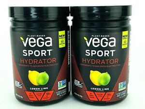 2x Vega Sport Hydrator Electrolyte Powder Lemon Lime 4.9oz Magnesium Vit C KETO