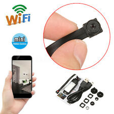 Mini Wireless Hidden Camera WIFI IP Pinhole DIY P2P Video Camera Support TF Card