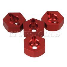 4 pièces RC1 : 10 Aluminium Alliage amélioration Rouge Roue Moyeu pour