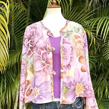 Jams World Hawaii Lightweight Jacket Or Cardigan Size Large