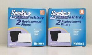 Lot of 2 Genuine Holmes Smoke Grabber Ashtray H Filters 2-2 Packs HAP75 & HAP76