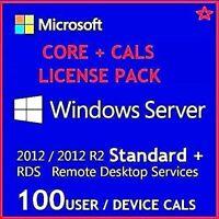 Windows Server 2012 R2 STANDARD CORE LICENSE & 50 DEVICE+50 USER CALS