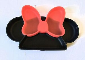 Bumkins Silicone Grip Dish Suction Plate Divided Baby Toddler Minnie mouse