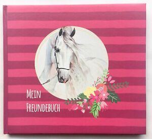 Freundebuch Pferde Eintragebuch Schulkind Kindergarten Mädchen Poesiealbum