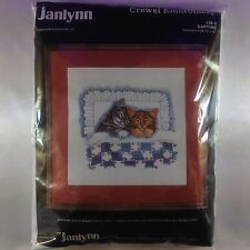 "Crewel Embroidery Kit ""Naptime"" by Janlynn"