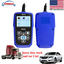 Car & Heavy Duty Diesel Truck Scanner Diagnostic Tool OBD2 HD Code Reader