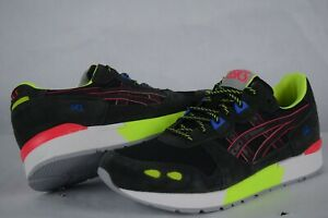 Mens Asics GEL Lyte Neon Sneakers Casual Shoes black lime 1191A349 sz 10