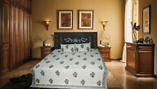 Latest Indian Pure Cotton Hand Block Floral Design Double Bed Sheet &Pillow Case