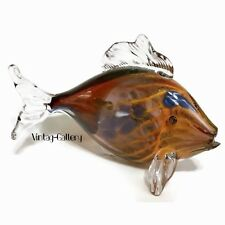 ART GLASS FISH Signed, 2001, Limited Edition 1/1 Hues of Browns / HANDMADE
