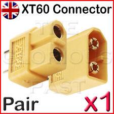 x1 - XT60 PAIR 65A High Current High Performance RC Connectors LiPo Battery