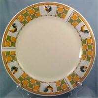 Oneidacraft Rooster Patch Dinner Plate Stoneware Country Dinnerware