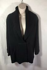 Soft Surroundings Black Wool Shawl Neck Cardigan Sweater Size XS