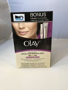 Olay Facial Hair Removal Duo Medium To Coarse Hair Bonus Make Up Cloths