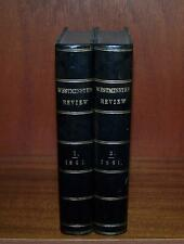 1861 LEATHER BOUND WESTMINSTER REVIEWS 2 x Vols DANTE Voltaire COTTON Slavery