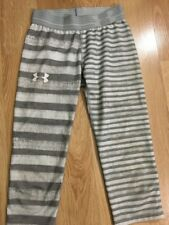 Under Armour Capri Pants Youth Small Gray And White