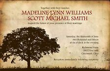 Wedding Invitations Rustic Old Tree Country - 50 Invitations & RSVP Cards