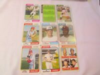 1974 TOPPS BASEBALL LOT OF 9, REGGIE SMITH 1974 ROOKIE OUTFIELDERS.   G1306
