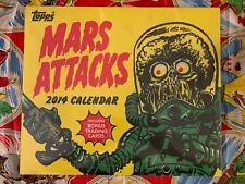 TOPPS MARS ATTACK 2014 calendar Includes Bonus Trading Cards Brand New Sealed