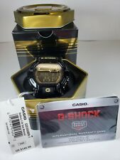 CASIO GD350BR-1 GSHOCK 50mm BLACK/GOLD GLOSSY DIGITAL ALERT VIBRATION WATCH NEW