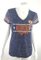 Auburn Tigers Football Womens Jrs. Medium Gray V-Neck Shirt Campus Heritage NWOT