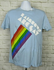 Rainbows Are GAY shirt pride sign right lesbian lgbt Sz Large Light Blue Graphic