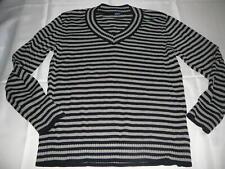 Cecil toller Strick Pullover Gr. XL grau-schwarz gestreift !!
