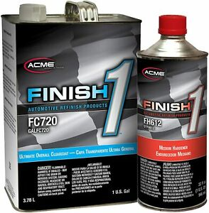 Finish1 Ultimate Overall Clearcoat Kit w/Medium Hardener - FC720/FH612