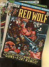 Red Wolf 1,2,6 * 3 Book Lot * Marvel! Western! Adventure! Guns of Fort Rango!