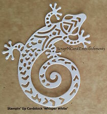 • • • Die Cuts ~ 'AUSTRALIAN GECKO' x6 ~ Stampin Up Card Stock ~ Scrapbooking