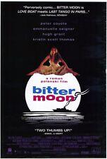 BITTER MOON Movie POSTER 27x40 Peter Coyote Emmanuelle Seigner Hugh Grant