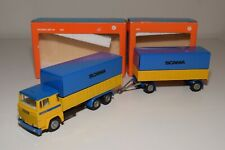 UU 1:50 TEKNO 420 452 SCANIA LBS 141 TRUCK WITH TRAILER PROMO WERBE MINT BOXED