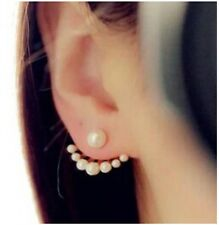 LADIES PAIR Fashion Exquisite simulated Pearl Stud Earrings Cuff Party UK Seller