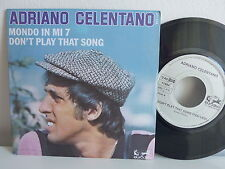 Lot de deux SP ADRIANO CELENTANO Mondo in mi 7 911124 Pochettes differentes
