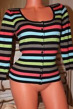 NEXT cotton mix  multicoloured fitted cardigan top size 10