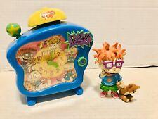 90s Nickelodeon Rugrats Talking Alarm Clock & Chuckie Blockbuster Exclusive Fig