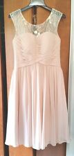 AZAZIE Womens Size 8 Champagne Color Bridesmaid or Wedding Dress ~ Worn Once!