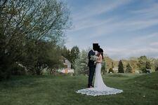 Enzoani Larissa Strapless Mermaid Ivory Wedding Dress Size 10/12 Long Train Lace