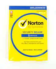 Norton Security Deluxe 1 year subscription with antivirus for 5 Devices #6570