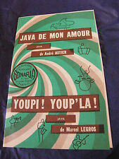 Partition Java de mon amour André Astier Youpi! Youp'la! Legros Music Sheet