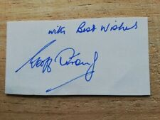 More details for rare!  geoff strong liverpool / arsenal legend hand-signed index card