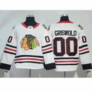 Clark Vacation Eishockeyanzug Jersey Chicago Blackhawks Griswold # 00 Weiß
