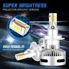 NOVSIGHT H7 LED Headlight Bulbs Kit 90W 12000LM 6500K High/Low Beam Super Bright