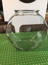 Fish Bowl Large Big 2 Gallon Aquarium Round Glass Clear Drum Desktop Table Tank